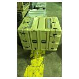 Beige hardigg storage container