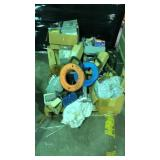 Pallet of miscellaneous items including breaker