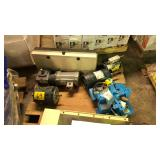 Pallet of various motors and part feeder