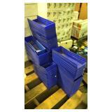 Set of blue storage boxes