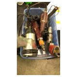Lot of five drills( two air compressed drills and