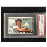 1951 Bowman Baseball Wally Moses Psa 8