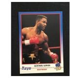 Lennox Lewis Boxing Rookie Card