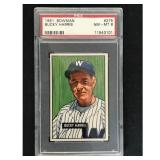 1951 Bowman Baseball Bucky Harris Hof Psa 8