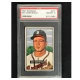 1951 Bowman Baseball Roy Hartsfield Psa 8