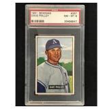 1951 Bowman Baseball Dave Philley Psa 8