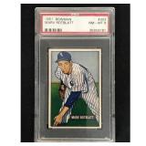 1951 Bowman Baseball Marv Rotblatt Psa 8