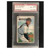 1951 Bowman Baseball Allen Gettel Psa 8