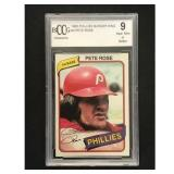 1980 Phillies Burger King Pete Rose Bccg 9