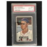 1951 Bowman Baseball Walt Masterson Psa 8