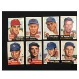 18 1953 Topps Baseball Cards Mixed Grade