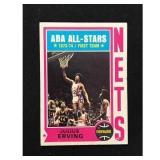 1974-75 Topps Julius Erving Card
