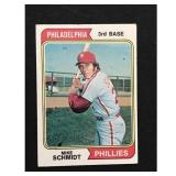 1974 Topps Mike Schmidt Crease Free