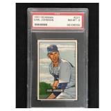 1951 Bowman Baseball Earl Johnson Psa 8