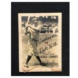 Circa 1930 Chicago Examiner Babe Ruth Card