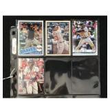 Four Ronald Acuna Baseball Cards
