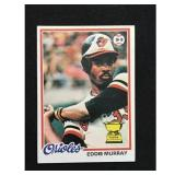 1978 Topps Eddie Murray Crease Free Rookie Card