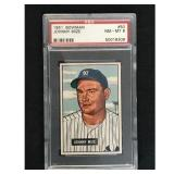 1951 Bowman Baseball Johnny Mize Hof Psa 8