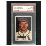 1951 Bowman Baseball Enos Slaughter Hof Psa 8