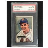 1951 Bowman Baseball Lou Boudreau Hof Psa 8