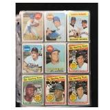 39 1969 Topps Baseball Cards With Hof