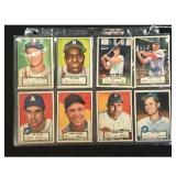 16 1952 Topps Baseball Cards Creased