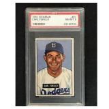 1951 Bowman Baseball Carl Furillo Psa 8