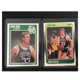 Two Fleer Basketball Larry Bird Cards