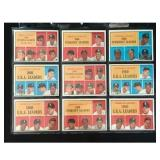 9 1961 Topps Baseball Leader Cards