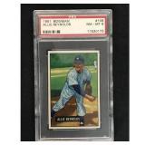 1951 Bowman Baseball Allie Reynolds Psa 8