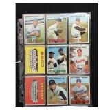 12 1967 Topps Baseball Cards With Hof