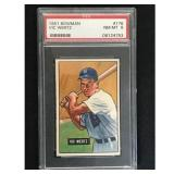 1951 Bowman Baseball Vic Wertz Psa 8