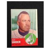 1963 Topps Duke Snider Card