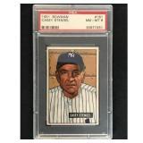 1951 Bowman Baseball Casey Stengel Hof Psa 8