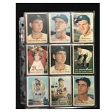 18 1957 Topps Baseball Cards With Stars