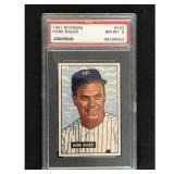 1951 Bowman Baseball Hank Bauer Psa 8