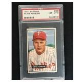 1951 Bowman Baseball Richie Ashburn Hof Psa 8