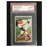 1951 Bowman Baseball Vernon Law Rookie Psa 8