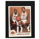 1984 Star Basketball Kareem/magic Card