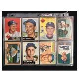 23 Vintage Baseball Cards 1951-1956