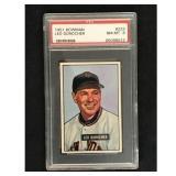 1951 Bowman Baseball Leo Durocher Hof Psa 8