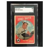 1959 Topps Yogi Berra Sgc 40 Vg 3
