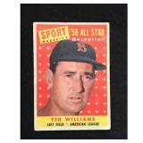 1958 Topps Ted Williams Allstar