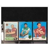 Three Vintage Football Hof Cards