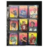 9 1970 Topps Glossy Football Cards With Hof