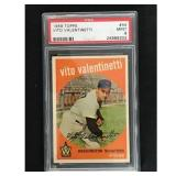 1959 Topps Vito Valentinetti Psa 9