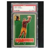 1956 Topps Football Jack Carson Psa 5