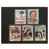5 1975 Topps Football Stars/hof