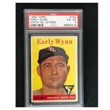 1958 Topps Early Wynn White Team Letter Psa 4