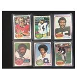 6 1976 Topps Football Cards Stars/hof